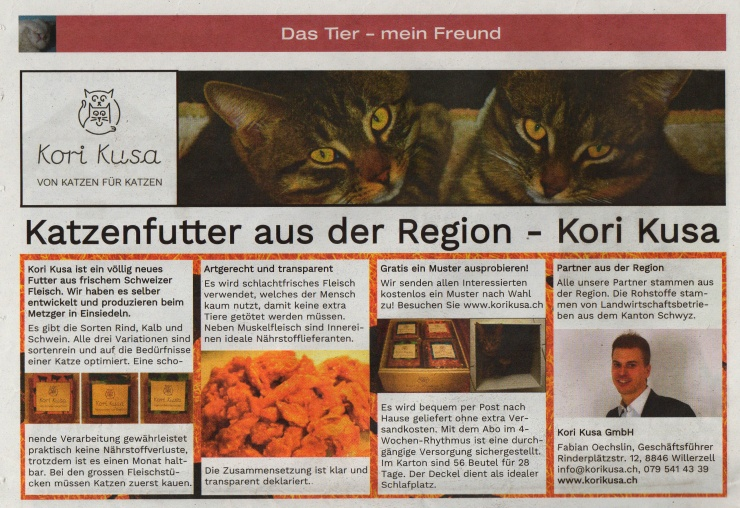 Zeitung-SeeMärt-Publlireportate-Katzenfutter-aus-der-Region-Kori-Kusa-x